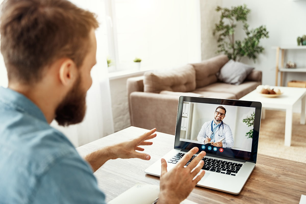 Video conference video chat with a doctor online