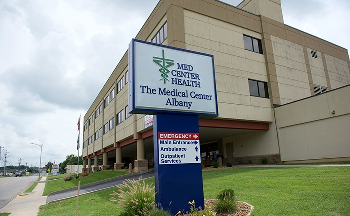 Exterior view of The Medical Center at Albany.